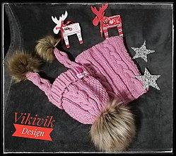 Detské čiapky - Ružo set - 10249832_