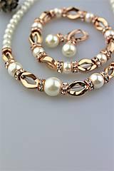 Luxusná súprava perly swarovski a hematit
