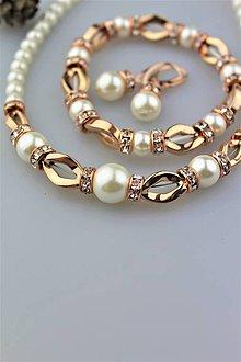 Sady šperkov - Luxusná súprava perly swarovski a hematit