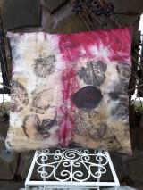 Úžitkový textil - Ecoprint hodvábna obliečka Magenta - 10250352_
