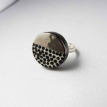 Prstene - Tana šperky - keramika/platina - 10250227_