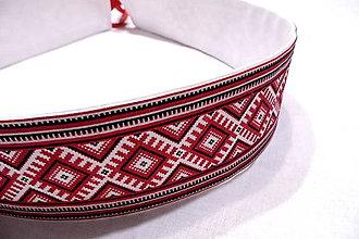 Opasky - Opasok folklórny červený - 10251578_