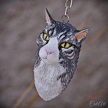 Kľúčenky - Mainská mývalia mačka - kľúčenka podľa fotografie - 10251216_