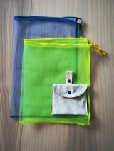 Nákupné tašky - Nákupná súprava vreciek na zeleninu - basic (Blue) - 10251106_