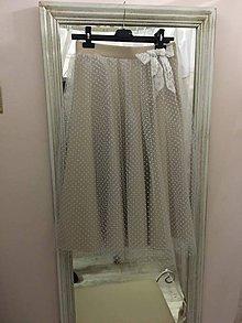 Sukne - Prekrásna suknička s bodkovaným tylom - 10251395_