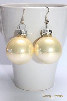 Náušnice - Zimné jemno-perleťové :) - 10251904_