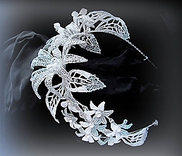 Ozdoby do vlasov - Svatební tiara - 10251292_
