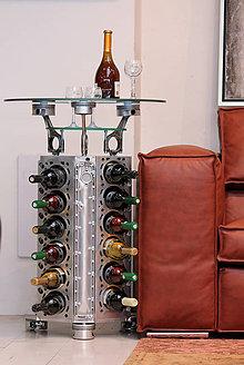 Iné - Stojan na víno z motora auta - 10251475_