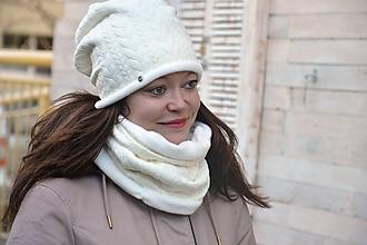 Čiapky - Zimný set s  Vrkoče & Ivory - 10252311_