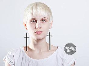 Náušnice - Náušice Cross - 10251924_