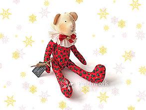Hračky - Textilná hračka - Macko vianočný - 10251717_