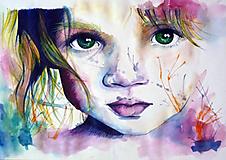 Obrazy - Portrét v štýle innocence - 10251428_