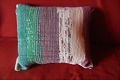 Úžitkový textil - Tkaná obliečka na vankúš zeleno-maslovo-hnedá - 10251128_