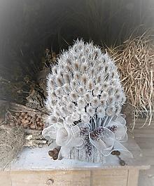 Dekorácie - Stromček z bodliakov - 10253782_