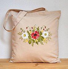 Nákupné tašky - Nákupná taška s kvetinovým motívom - 10253045_