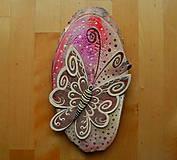 Dekorácie - Ovál - Motýľ - 10254022_