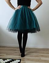 Sukne - Tylová sukňa dvojfarebná - 10252431_