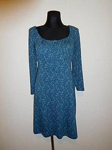 Šaty - Smaragdové kytičky - 10253621_