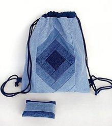 Batohy - Denim batoh + puzdro - 10253431_