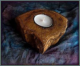 Svietidlá a sviečky - 45. DŘEVĚNÝ SVÍCEN  DUB - Český Ráj - 10253675_