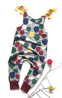 Detské oblečenie - Háremkový overal Balóny z organickej bavlny - 10253087_