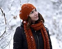 Čiapky - Set terakotový - 10253921_