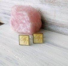 Šperky - Manžetové gombíky - Iniciály (odber 5 a viac) - 10253249_