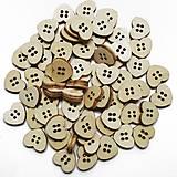 G101 Gombík drevený SRDIEČKO 1,5 x 1,3 cm