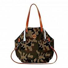 Veľké tašky - Střední kabelka MANA MANA Maskáčová/Karamelová kůže - 10252811_