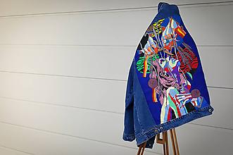 Kabáty - Maľovaná denimová/riflová bunda - 10253586_