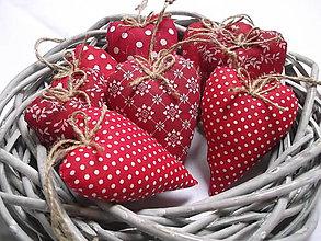 Darčeky pre svadobčanov - Červené mix srdiečká - 10253719_