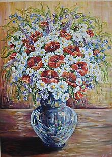 Obrazy - Váza plná pestrosti - 10254796_