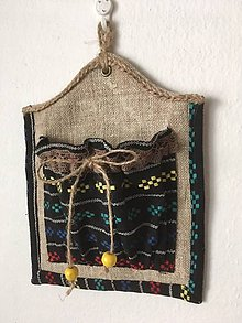 Úžitkový textil - Mini vreckárik vzorovaný - 10255201_