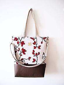 Veľké tašky - Veľká taška - šípky so sivohnedou - 10254645_