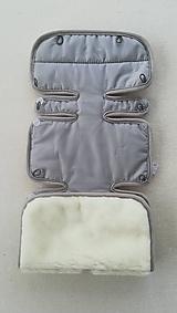 Textil - Podložka do kočíka CONCORD Wanderer 100% merino /celoročná/ obojstranná ŠEDÁ - 10255304_