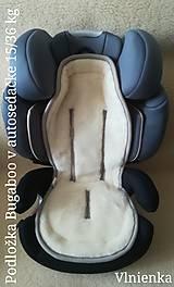 Textil - VLNIENKA Podložka do autosedačky 9 - 36 kg 100% Merino proti poteniu a prechladnutiu CYBEX PALLAS S-FIX/ ROMER - 10255432_