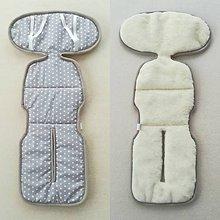Textil - VLNIENKA Podložka do autosedačky 9-18 kg 100% Merino proti poteniu a prechladnutiu Hviezdička šedá - 10255273_