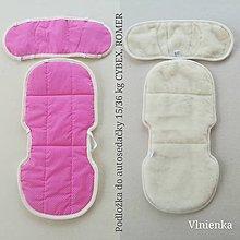 Textil - Podložka do autosedačky 9 - 36 kg 100% Merino proti poteniu a prechladnutiu CYBEX PALLAS S-FIX 9/36 KG a ROMER 15/36 KG - 10255348_
