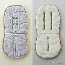 Textil - Univerzálna podložka RUNINKO 3 v 1 do kočíka/ do vaničky/ do autosedačky 100% MERINO TOP BODKA šedá - 10255451_