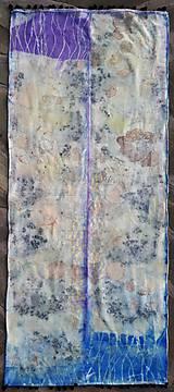 Šály - Premeny-hodvábny ecoprint pléd - 10254712_