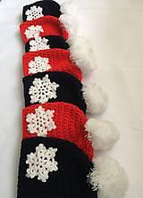 Čiapky - červená čiapka s vločkou - 10255561_