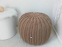 Úžitkový textil - Háčkovaný PUF karamelový TOFFI ZĽAVA - 10254555_