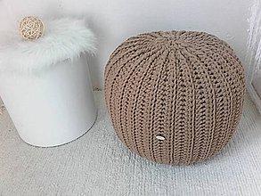 Úžitkový textil - Háčkovaný PUF karamelový TOFFI - 10254561_