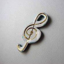 Odznaky/Brošne - Tana šperky - keramika/zlato - 10255199_