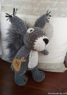 Hračky - Háčkovaná veverička - 10254518_