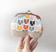 Peňaženky - Peňaženka XL Mačacie hlavičky - 10254373_