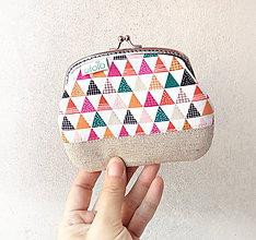 Peňaženky - Peňaženka XL Farebné trojuholníky - 10254378_