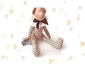 Hračky - Textilná hračka - Macko nugátový - 10254754_