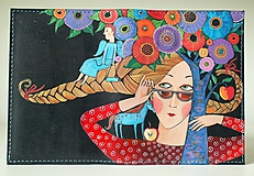 Papiernictvo - Copánky - kožený obal A6 - 10255408_