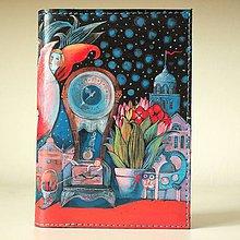 Papiernictvo - Květnová noc - kožený obal A6 - 10255379_